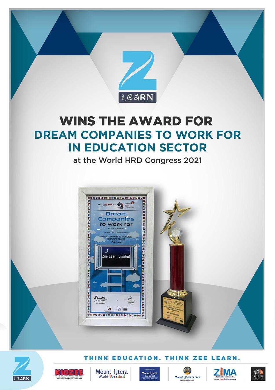 2. Zee Learn_Dream Companies to Work for Award